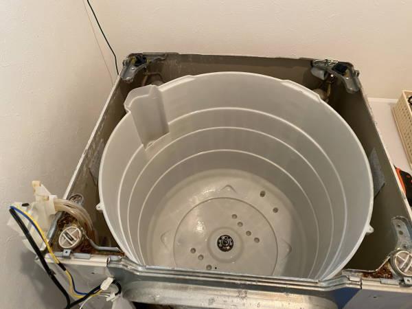 洗濯機の水槽クリーニング後