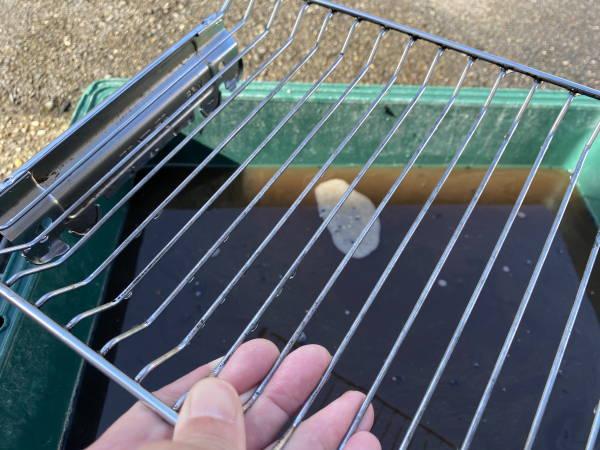 お魚グリルの網、クリーニング後