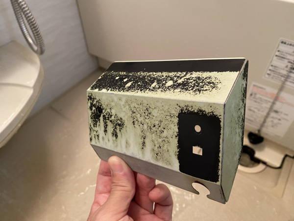 塗装が傷んで剥げています。