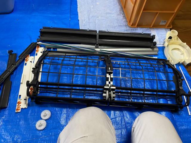 フィルター自動お掃除ユニットと換気ユニットのクリーニング後